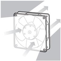 Принцип работы осевых вентиляторов