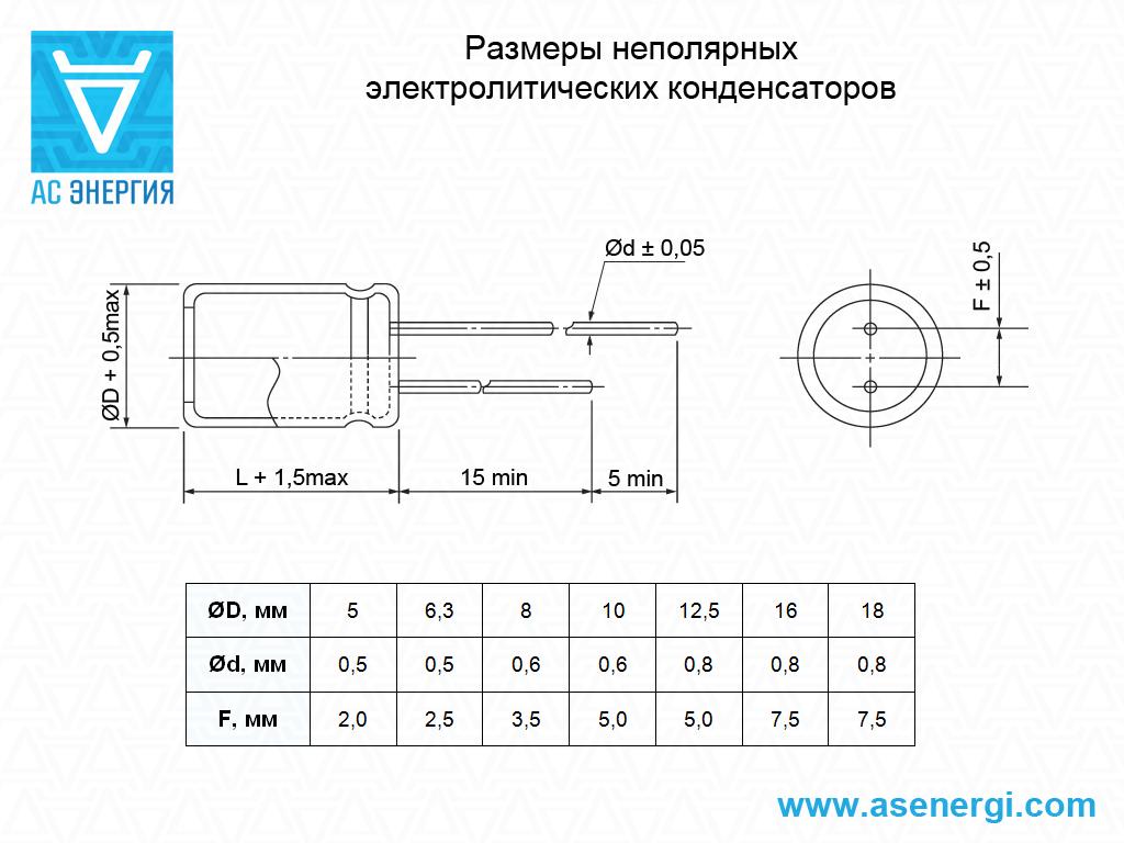 Как сделать неполярный конденсатор из полярного фото 530